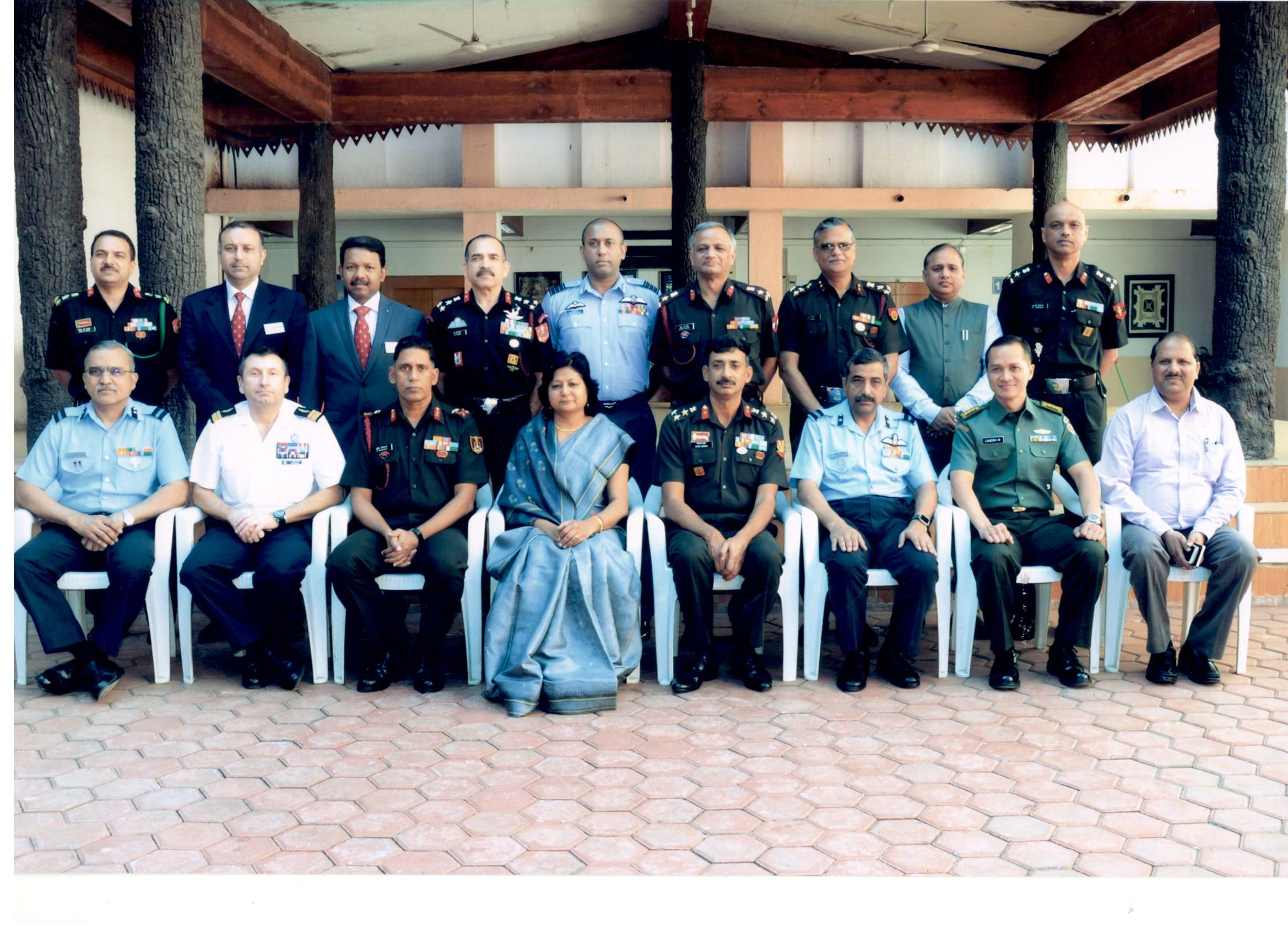 National Security and Strategic Studies 2017- MP Visit Officers with Smt. Kanchan Jain Director General Academy of Administration
